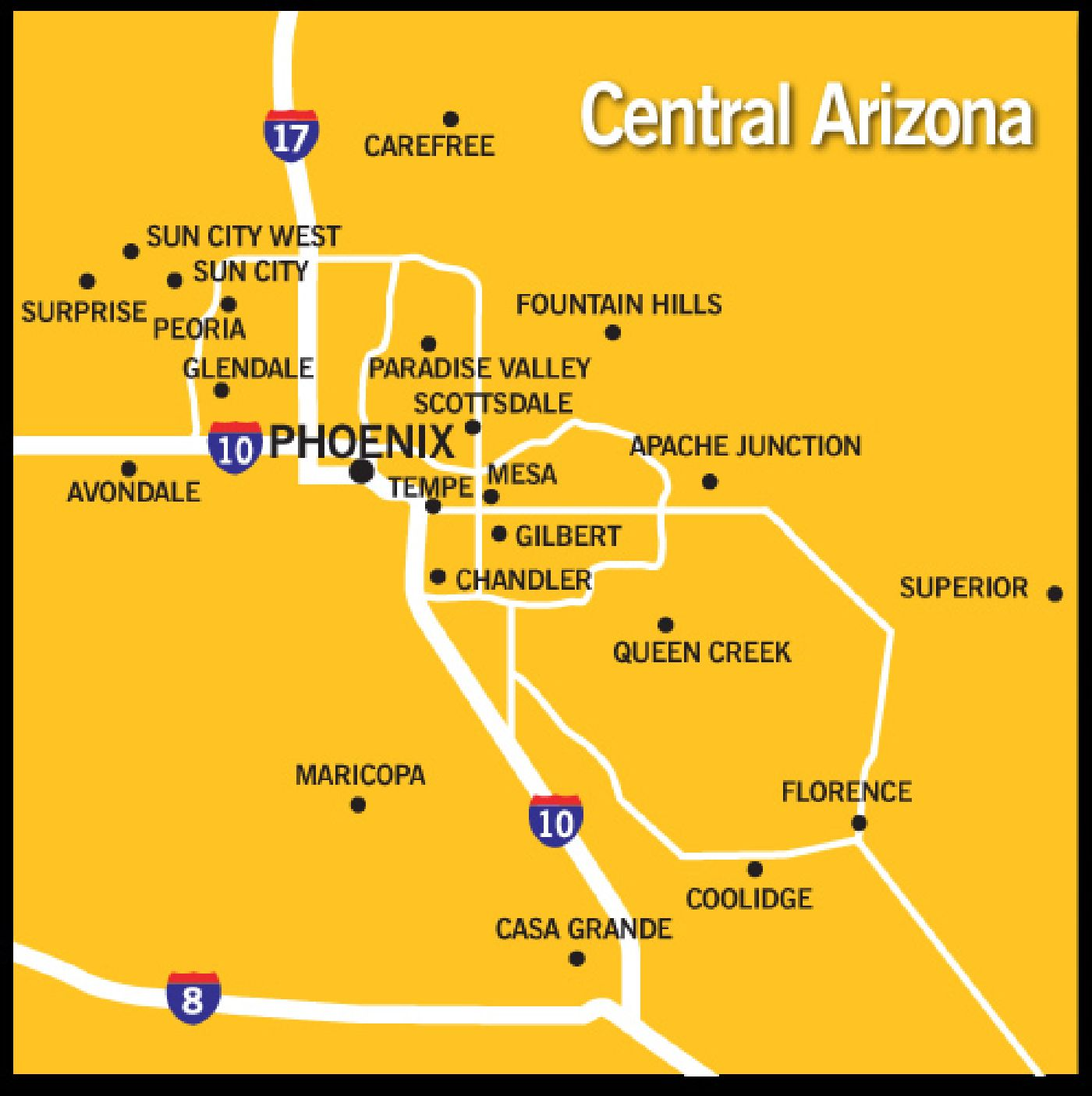Map Of Central Arizona.Nfbpa Cac Index